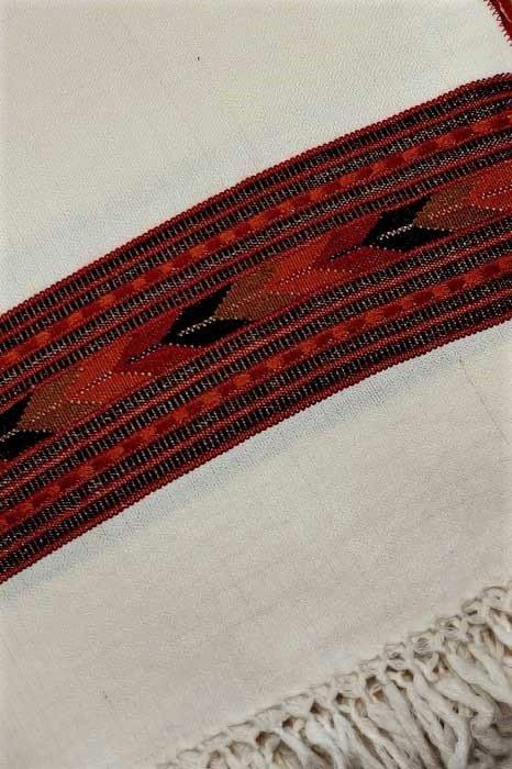 GiTAGGED Kullu Pure Wool Off White Stole With Dari 5