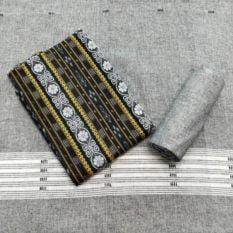 GiTAGGED Orissa Ikat Black Floral Salwar Suit Set 1