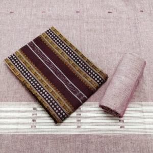GiTAGGED Orissa Ikat Dark Brown Polka Dot Salwar Suit Set 1