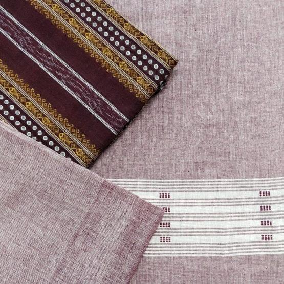 GiTAGGED Orissa Ikat Dark Brown Polka Dot Salwar Suit Set 2