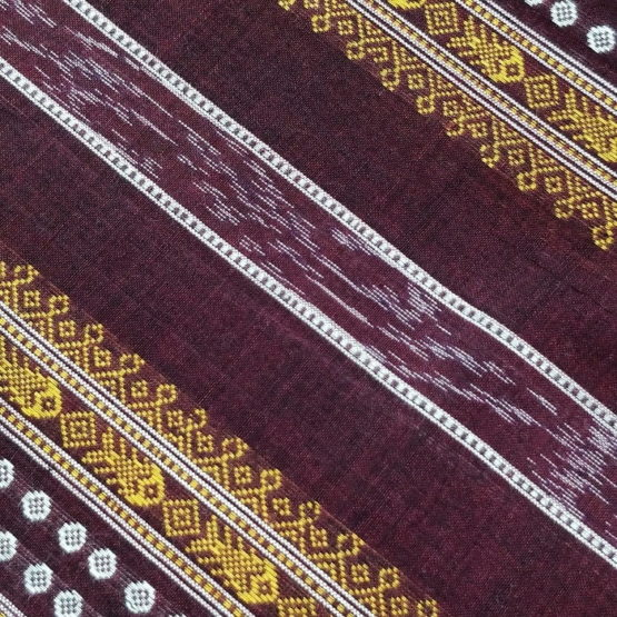 GiTAGGED Orissa Ikat Dark Brown Polka Dot Salwar Suit Set 3