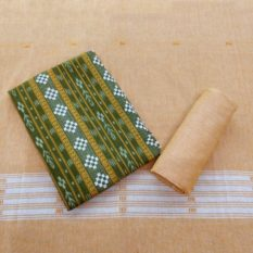 GiTAGGED Orissa Ikat Green Geometric Salwar Suit Set 1