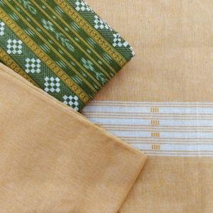 GiTAGGED Orissa Ikat Green Geometric Salwar Suit Set 2