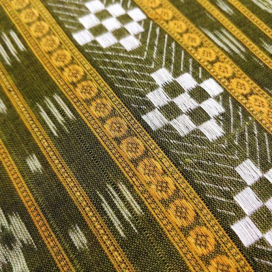 GiTAGGED Orissa Ikat Green Geometric Salwar Suit Set 3