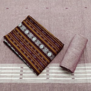 GiTAGGED Orissa Ikat Maroon Floral Salwar Suit Set 1