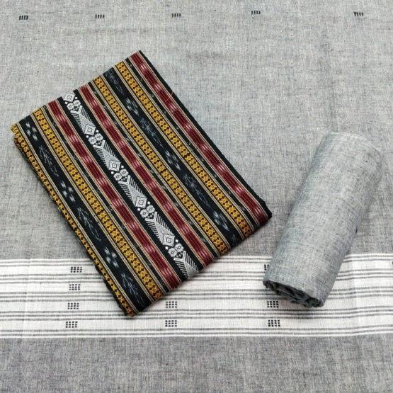 GiTAGGED Orissa Ikat Multi-stripe Salwar Suit Set 1