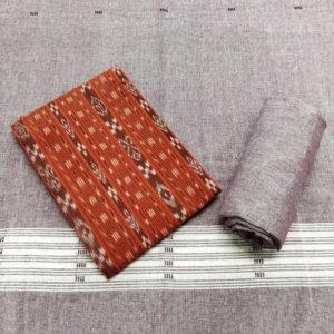 GiTAGGED Orissa Ikat Orange Geometric Salwar Suit Set 1