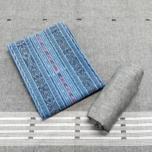 GiTAGGED Orissa Ikat Pastel Blue Salwar Suit Set