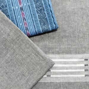 GiTAGGED Orissa Ikat Pastel Blue Salwar Suit Set 3