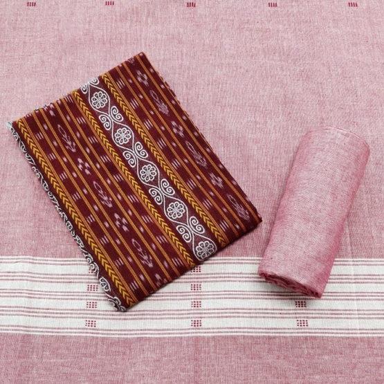 GiTAGGED Orissa Ikat Red Floral Salwar Suit Set 1