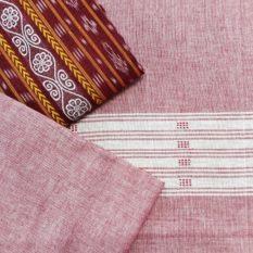 GiTAGGED Orissa Ikat Red Floral Salwar Suit Set 2