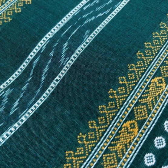 GiTAGGED Orissa Ikat Sacramento Green Salwar Suit Set 2