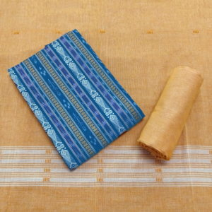 GiTAGGED Orissa Ikat Sapphire Blue Salwar Suit Set 1