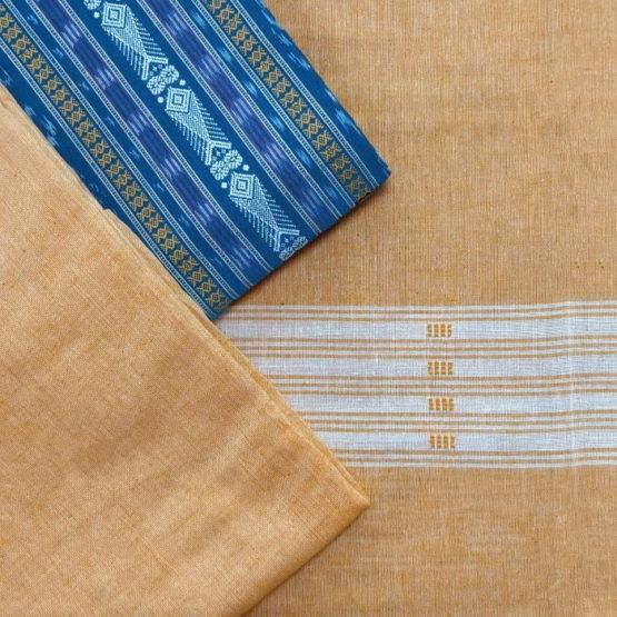 GiTAGGED Orissa Ikat Sapphire Blue Salwar Suit Set 2