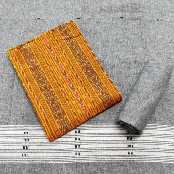 GiTAGGED Orissa Ikat Yellow Salwar Suit Set 1