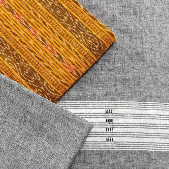 GiTAGGED Orissa Ikat Yellow Salwar Suit Set 2