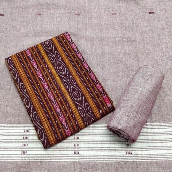 GiTAGGED Orissa Pink Paisley Ikat Salwar Suit Set 1