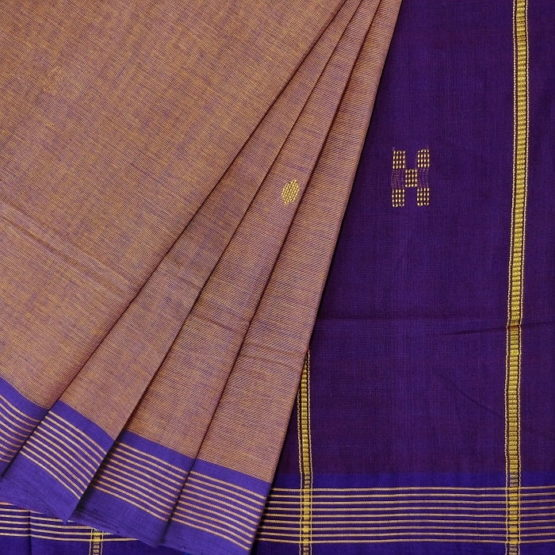 GiTAGGED Udupi Goldenrod with Butta Pure Cotton Saree 2