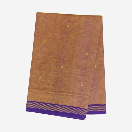 GiTAGGED Udupi Goldenrod with Butta Pure Cotton Saree 4