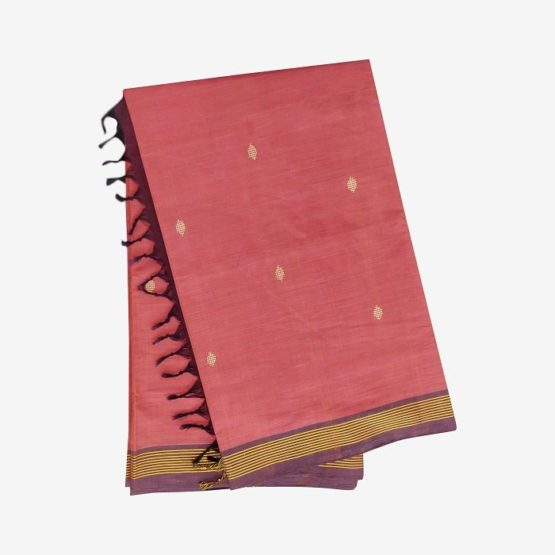 GiTAGGED Udupi Punch Pink with Butta Pure Cotton Saree 4