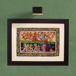 GiTAGGED Orissa Pattachitra – Bala Krishna with Gopa's 7A