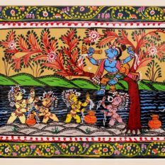 GiTAGGED Orissa Pattachitra – Bala Krishna with Gopa's 7B