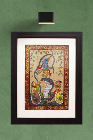 GiTAGGED Orissa Pattachitra Dancing Krishna on Kalinga 1