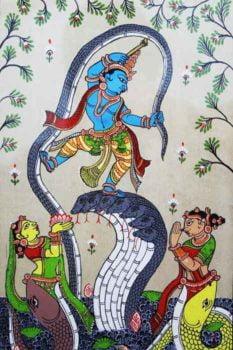 GiTAGGED Orissa Pattachitra Dancing Krishna on Kalinga 3