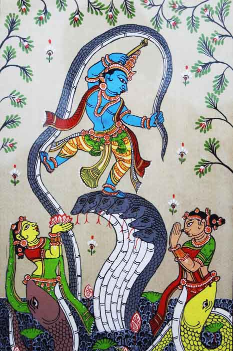 GiTAGGED Orissa Pattachitra Dancing Krishna on Kalinga 3