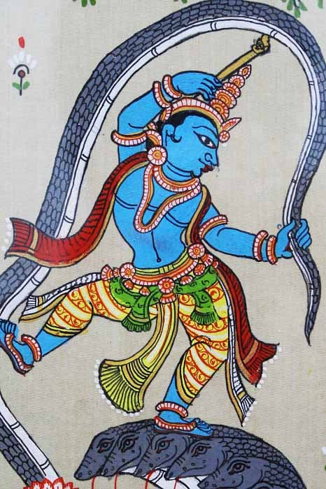 GiTAGGED Orissa Pattachitra Dancing Krishna on Kalinga 4