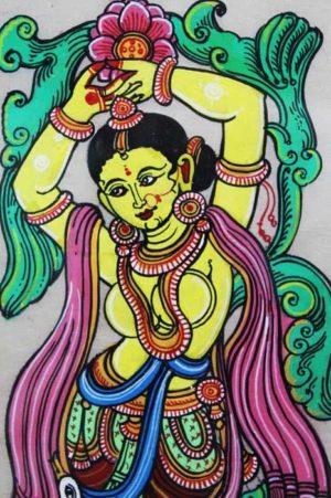 GiTAGGED Orissa Pattachitra Dancing Lady 3