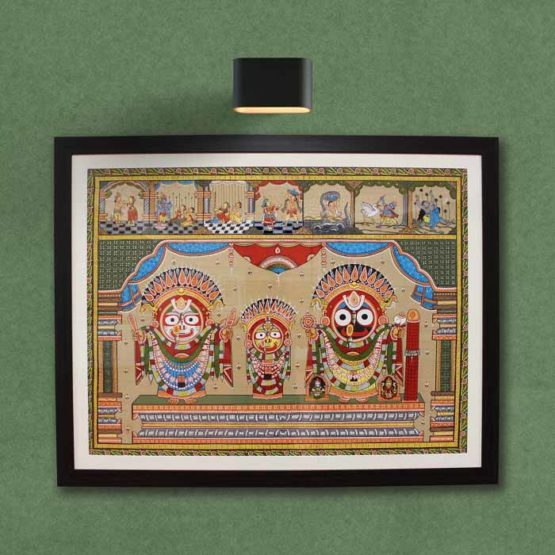 GiTAGGED Orissa Pattachitra - Golden Decorations of Lord Puri Jagannath 1