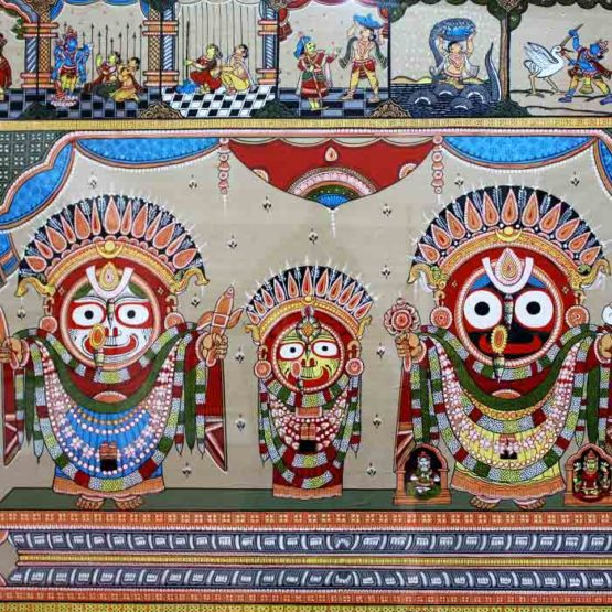 GiTAGGED Orissa Pattachitra - Golden Decorations of Lord Puri Jagannath 2