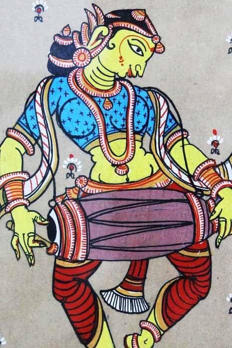 GiTAGGED Orissa Pattachitra Gopika with Mridangam 4