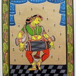 GiTAGGED Orissa Pattachitra Gopika with Mridangam 9B