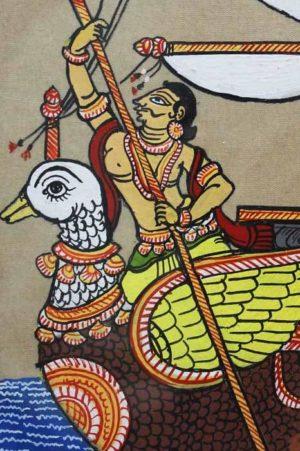 GiTAGGED Orissa Pattachitra Hamsa - Ship Painting 4