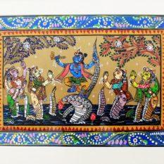 GiTAGGED Orissa Pattachitra - Kalinga's Wives Praying Shri Krishna 25B