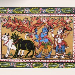 GiTAGGED Orissa Pattachitra Krishna & Balarama 26B