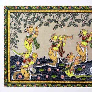 GiTAGGED Orissa Pattachitra - Krishna Kalinga Narthana 30B
