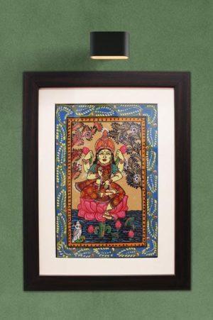 GiTAGGED Orissa Pattachitra Lakshmidevi on Lotus 1
