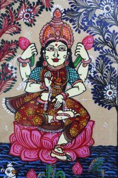 GiTAGGED Orissa Pattachitra Lakshmidevi on Lotus 3