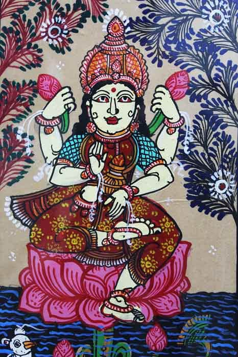GiTAGGED Orissa Pattachitra Lakshmidevi on Lotus 3