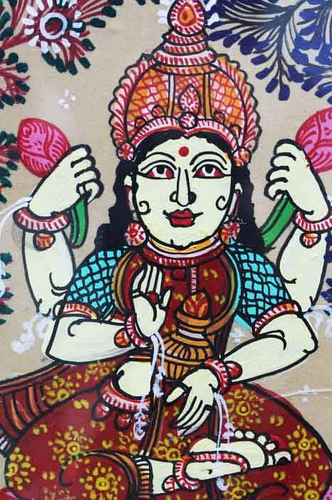 GiTAGGED Orissa Pattachitra Lakshmidevi on Lotus 4