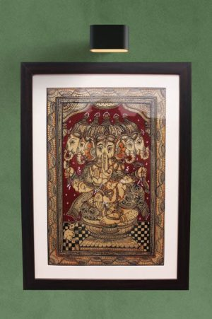 GiTAGGED Orissa Pattachitra Lord Ganesh with 5 Faces 1