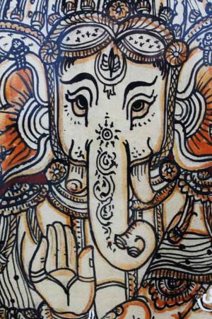 GiTAGGED Orissa Pattachitra Lord Ganesh with 5 Faces 4