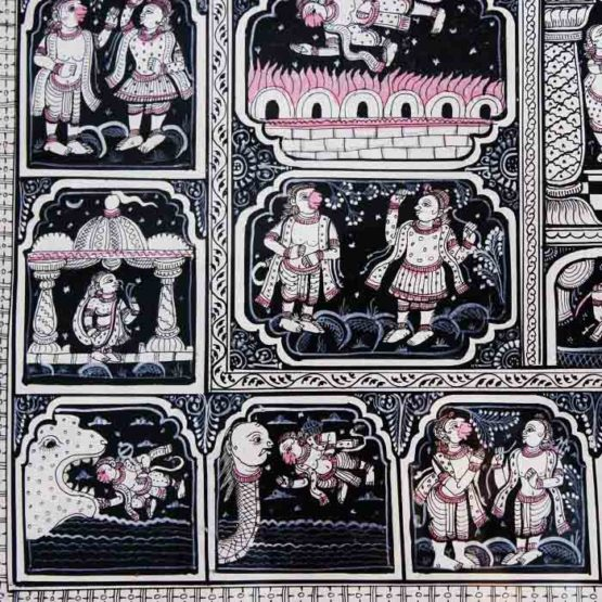 GiTAGGED Orissa Pattachitra - Mahabali Hanuman Katha 5