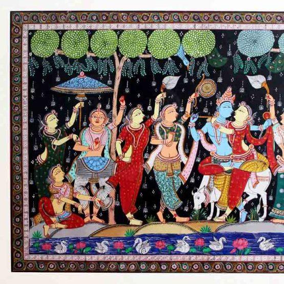 GiTAGGED Orissa Pattachitra Radha Krishna Rasaleela 23B