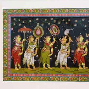 GiTAGGED Orissa Pattachitra Radha Krishna Rasaleela 31B