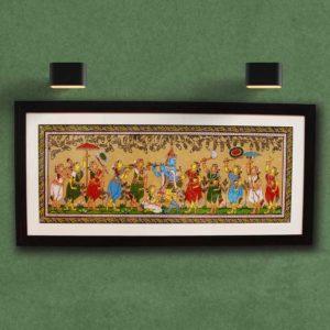 GiTAGGED Orissa Pattachitra - Radha Krishna Rasaleela 32A