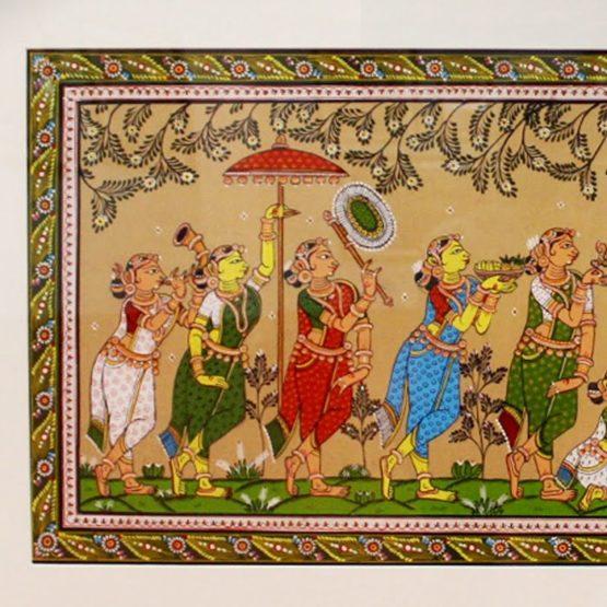 GiTAGGED Orissa Pattachitra - Radha Krishna Rasaleela 32B